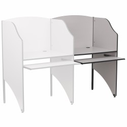 Add-On Study Carrel in Nebula Grey Finish