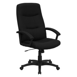 High Back Black Fabric Executive Swivel Office Chair