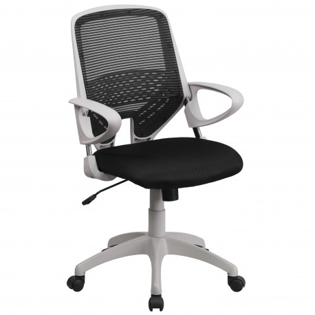 Mid-Back Black Mesh Office Chair
