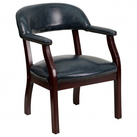 Navy Vinyl Luxurious Conference Chair