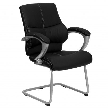 Black Leather Executive Side Chair
