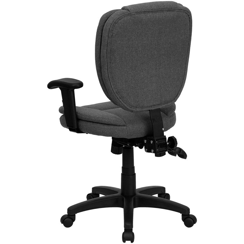 furniture office chairs leather task chairs mid back gray