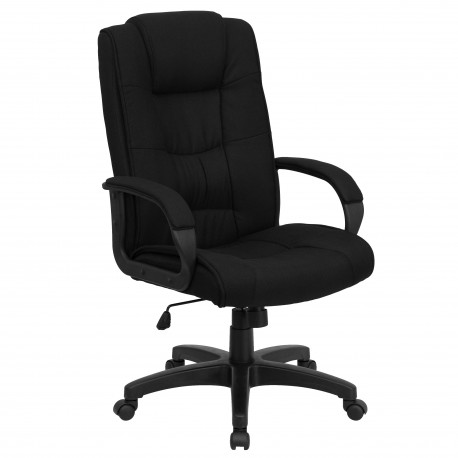 High Back Black Fabric Executive Office Chair