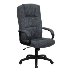 High Back Gray Fabric Executive Office Chair