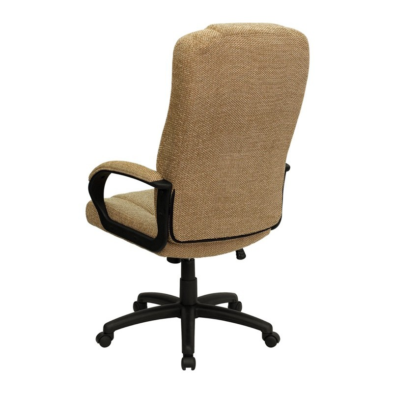 back beige fabric executive office chair