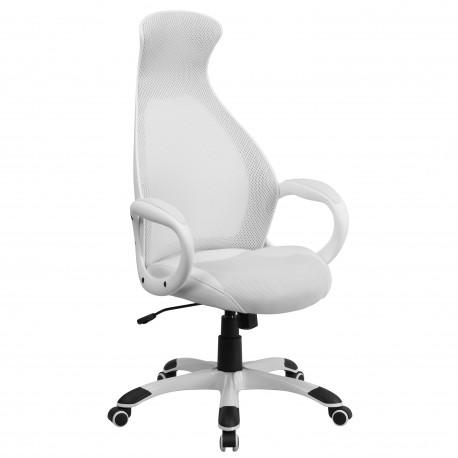 High Back Executive White Mesh Chair