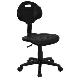 Tuff Butt'' Soft Black Polyurethane Utility Task Chair