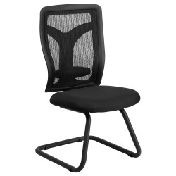 Galaxy Black Mesh Side Chair with Mesh Seat and Adjustable Lumbar Support