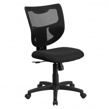 Galaxy Mid-Back Designer Back Task Chair with Padded Fabric Seat