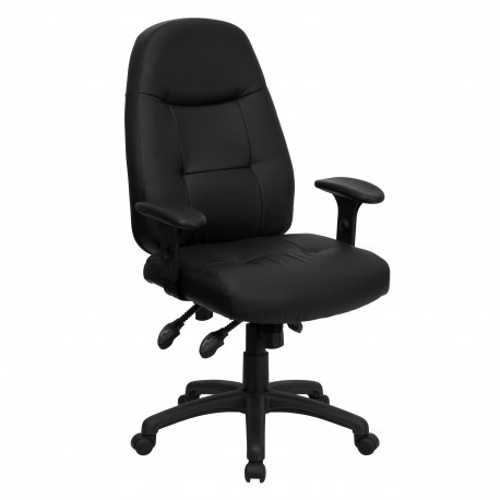 Back Black Leather Executive Office Chair