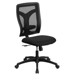 Galaxy High Back Designer Back Task Chair with Padded Fabric Seat