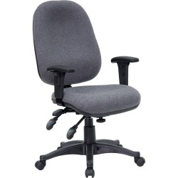 Mid-Back Multi-Functional Gray Fabric Swivel Computer Chair