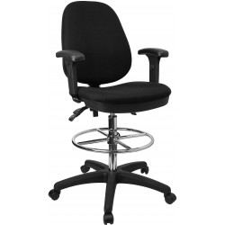 Ergonomic Multi-Functional Triple Paddle Drafting Stool with Adjustable Foot Ring and Arms