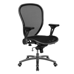 Mid-Back Professional Super Mesh Chair Featuring Solid Metal Construction with Silver Vein Accents