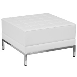 Immaculate Collection White Leather Ottoman