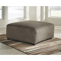 Vanessa Oversized Ottoman in Dune Fabric