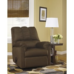 Eliana Rocker Recliner in Cafe Fabric
