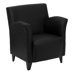 Arc Collection Black Leather Reception Chair