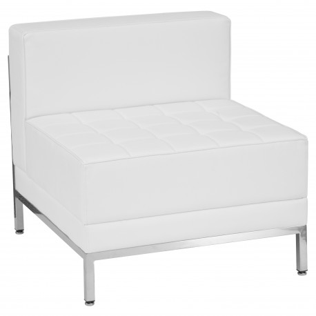 Immaculate Collection Contemporary White Leather Middle Chair