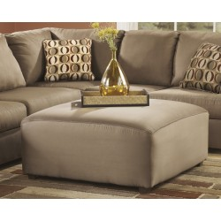 Corbett Oversized Ottoman in Mocha Fabric