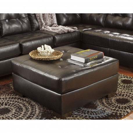 Glamour Oversized Ottoman in Chocolate DuraBlend