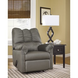 Eliana Rocker Recliner in Cobblestone Fabric