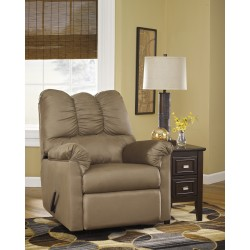 Eliana Rocker Recliner in Mocha Fabric