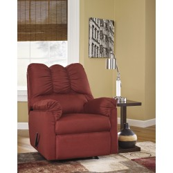 Eliana Rocker Recliner in Salsa Fabric