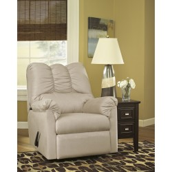 Eliana Rocker Recliner in Stone Fabric
