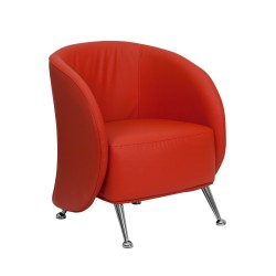 Flight Collection Red Leather Reception Chair