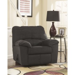 Champion Rocker Recliner in Black Fabric