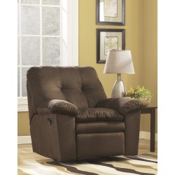 Elenna Rocker Recliner in Cafe Fabric