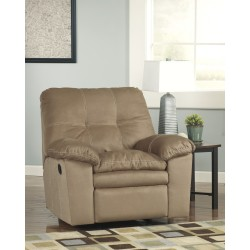 Elenna Rocker Recliner in Mocha Fabric