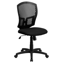Mid-Back Designer Back Task Chair with Padded Fabric Seat