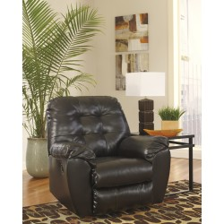 Glamour Rocker Recliner in Chocolate DuraBlend