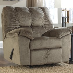 Velvetine Rocker Recliner in Dune Fabric