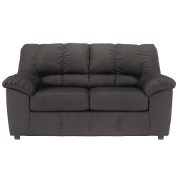 Champion Loveseat in Black Fabric