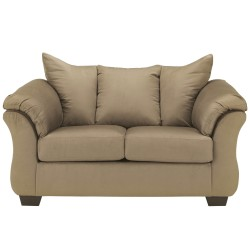 Eliana Loveseat in Mocha Fabric