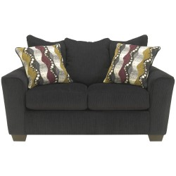 Benchcraft Murdock Loveseat in Ebony Chenille