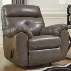 Benchcraft Glamour Rocker Recliner in Steel DuraBlend