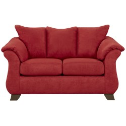 Sensations Red Brick Microfiber Loveseat