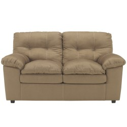 Elenna Loveseat in Mocha Fabric