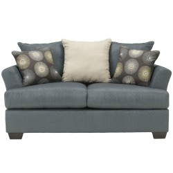 Cindy Loveseat in Indigo Fabric