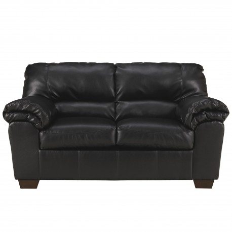 Lisa Loveseat in Black Leather