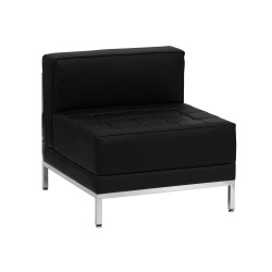 Immaculate Collection Contemporary Black Leather Middle Chair