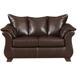 Taos Mahogany Leather Loveseat