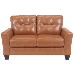 Benchcraft Shine Loveseat in Orange DuraBlend