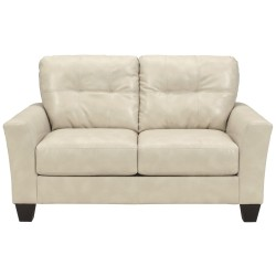 Benchcraft Shine Loveseat in Taupe DuraBlend