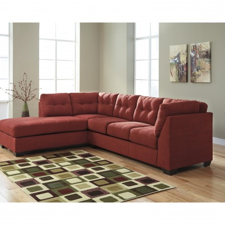Benchcraft Cozy Sectional with Left Side Facing Chaise in Sienna Microfiber