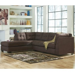 Benchcraft Cozy Sectional with Left Side Facing Chaise in Walnut Microfiber